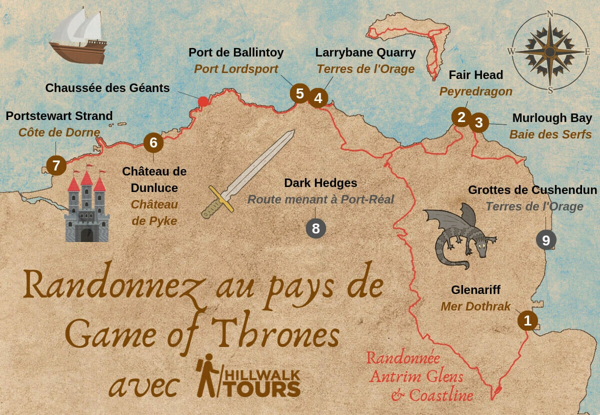 Game Of Thrones Carte Irlande Du Nord