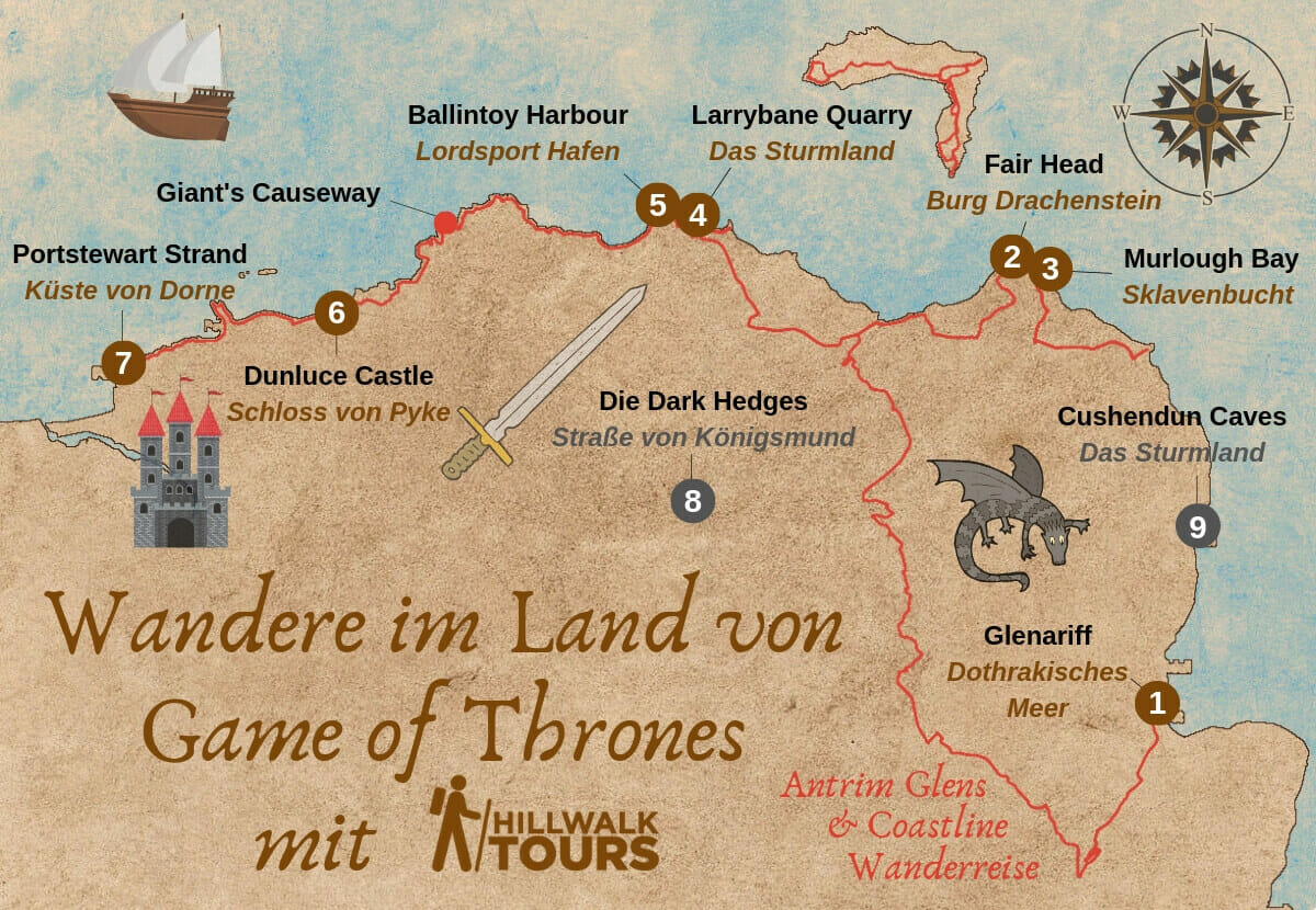 Game Of Thrones Karte Nordirland
